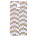 CHEVRON2 WHITE MARBLE & SAND Galaxy Note 4 Back Case Front