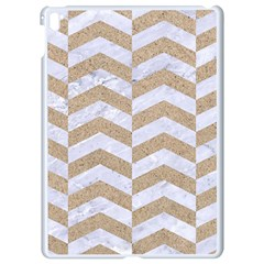 Chevron2 White Marble & Sand Apple Ipad Pro 9 7   White Seamless Case