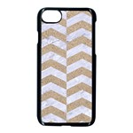 CHEVRON2 WHITE MARBLE & SAND Apple iPhone 8 Seamless Case (Black) Front