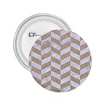 CHEVRON1 WHITE MARBLE & SAND 2.25  Buttons