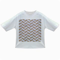 CHEVRON1 WHITE MARBLE & SAND Infant/Toddler T-Shirts