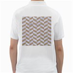 CHEVRON1 WHITE MARBLE & SAND Golf Shirts Back