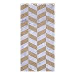CHEVRON1 WHITE MARBLE & SAND Shower Curtain 36  x 72  (Stall)  33.26 x66.24 Curtain