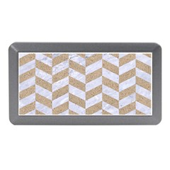 Chevron1 White Marble & Sand Memory Card Reader (mini)