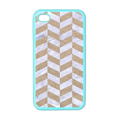 CHEVRON1 WHITE MARBLE & SAND Apple iPhone 4 Case (Color)