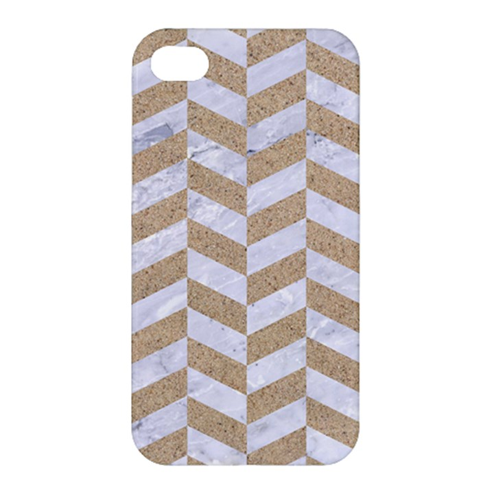 CHEVRON1 WHITE MARBLE & SAND Apple iPhone 4/4S Hardshell Case