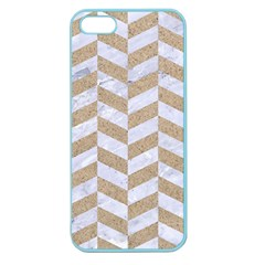CHEVRON1 WHITE MARBLE & SAND Apple Seamless iPhone 5 Case (Color)