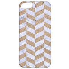 Chevron1 White Marble & Sand Apple Iphone 5 Classic Hardshell Case