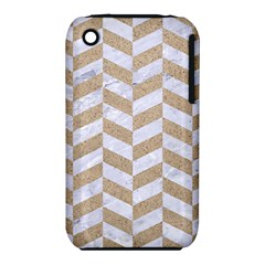 CHEVRON1 WHITE MARBLE & SAND iPhone 3S/3GS