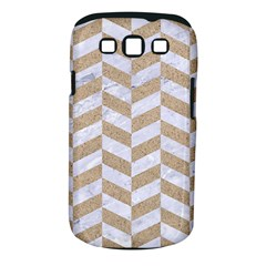 CHEVRON1 WHITE MARBLE & SAND Samsung Galaxy S III Classic Hardshell Case (PC+Silicone)