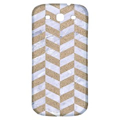 CHEVRON1 WHITE MARBLE & SAND Samsung Galaxy S3 S III Classic Hardshell Back Case