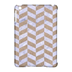CHEVRON1 WHITE MARBLE & SAND Apple iPad Mini Hardshell Case (Compatible with Smart Cover)