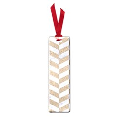 CHEVRON1 WHITE MARBLE & SAND Small Book Marks