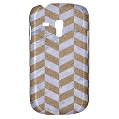 Chevron1 White Marble & Sand Galaxy S3 Mini
