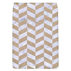 CHEVRON1 WHITE MARBLE & SAND Flap Covers (L)