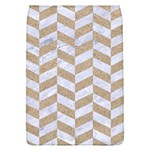 CHEVRON1 WHITE MARBLE & SAND Flap Covers (L)  Front