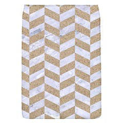 CHEVRON1 WHITE MARBLE & SAND Flap Covers (S)