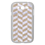 CHEVRON1 WHITE MARBLE & SAND Samsung Galaxy Grand DUOS I9082 Case (White) Front