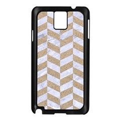 Chevron1 White Marble & Sand Samsung Galaxy Note 3 N9005 Case (black)