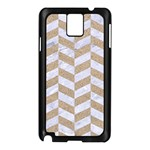 CHEVRON1 WHITE MARBLE & SAND Samsung Galaxy Note 3 N9005 Case (Black) Front