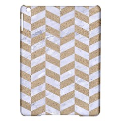 CHEVRON1 WHITE MARBLE & SAND iPad Air Hardshell Cases