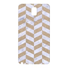CHEVRON1 WHITE MARBLE & SAND Samsung Galaxy Note 3 N9005 Hardshell Back Case