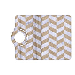 Chevron1 White Marble & Sand Kindle Fire Hd (2013) Flip 360 Case by trendistuff