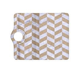Chevron1 White Marble & Sand Kindle Fire Hdx 8 9  Flip 360 Case by trendistuff