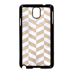 Chevron1 White Marble & Sand Samsung Galaxy Note 3 Neo Hardshell Case (black)
