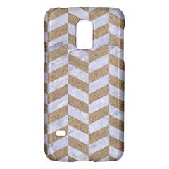 Chevron1 White Marble & Sand Galaxy S5 Mini