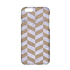 Chevron1 White Marble & Sand Apple Iphone 6/6s Hardshell Case