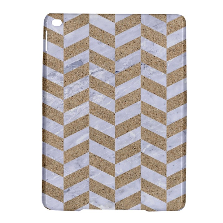 CHEVRON1 WHITE MARBLE & SAND iPad Air 2 Hardshell Cases