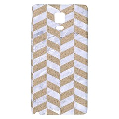 CHEVRON1 WHITE MARBLE & SAND Galaxy Note 4 Back Case