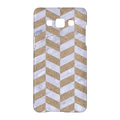 CHEVRON1 WHITE MARBLE & SAND Samsung Galaxy A5 Hardshell Case