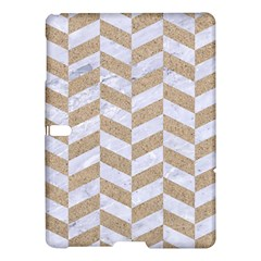CHEVRON1 WHITE MARBLE & SAND Samsung Galaxy Tab S (10.5 ) Hardshell Case