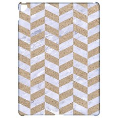 Chevron1 White Marble & Sand Apple Ipad Pro 12 9   Hardshell Case