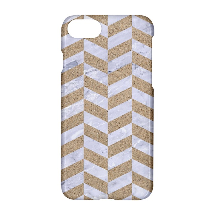 CHEVRON1 WHITE MARBLE & SAND Apple iPhone 7 Hardshell Case