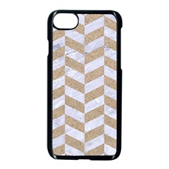 Chevron1 White Marble & Sand Apple Iphone 7 Seamless Case (black)