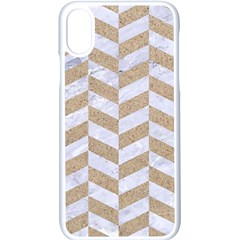 Chevron1 White Marble & Sand Apple Iphone X Seamless Case (white)