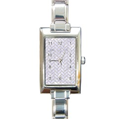 BRICK2 WHITE MARBLE & SAND (R) Rectangle Italian Charm Watch