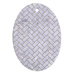 BRICK2 WHITE MARBLE & SAND (R) Ornament (Oval)