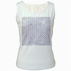 BRICK2 WHITE MARBLE & SAND (R) Women s White Tank Top