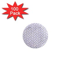 BRICK2 WHITE MARBLE & SAND (R) 1  Mini Magnets (100 pack)