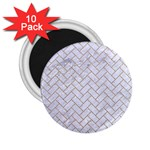BRICK2 WHITE MARBLE & SAND (R) 2.25  Magnets (10 pack)