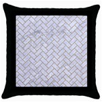 BRICK2 WHITE MARBLE & SAND (R) Throw Pillow Case (Black)