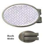 BRICK2 WHITE MARBLE & SAND (R) Money Clips (Oval)
