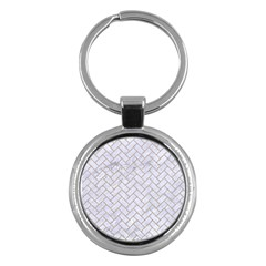 BRICK2 WHITE MARBLE & SAND (R) Key Chains (Round)