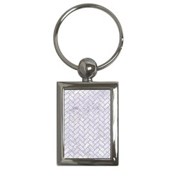 Brick2 White Marble & Sand (r) Key Chains (rectangle)  by trendistuff