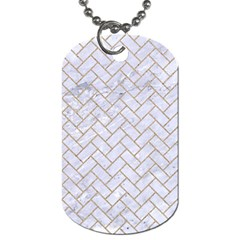 BRICK2 WHITE MARBLE & SAND (R) Dog Tag (One Side)