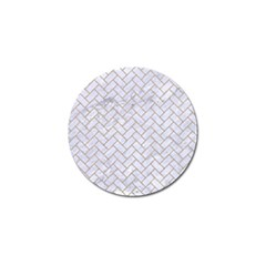 BRICK2 WHITE MARBLE & SAND (R) Golf Ball Marker